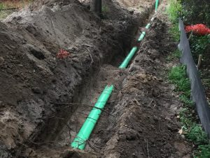 Construction Site Work - Sewer Line